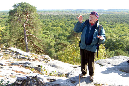 Daniel Obert devant le golfe de Larchant